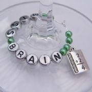 Maths Book Personalised Wine Glass Charm